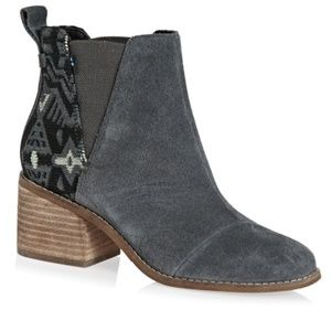 TOMS ESME Forged Iron Grey Suede/Metallic Jacquard